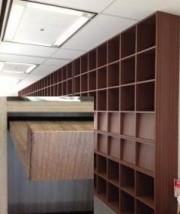 大型壁面収納色補修