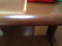 ダイニングテーブル補修作業